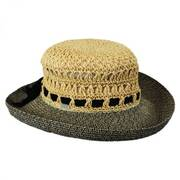 Maribel Crocheted Toyo Straw Sun Hat