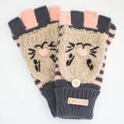 Adorbs Fold-over Knit Fingerless Gloves