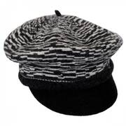 Two-Tone Wool Newsboy Cap
