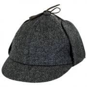Herringbone Wool Sherlock Holmes Hat