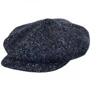Marl Donegal Tweed Wool Newsboy Cap