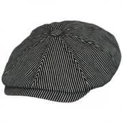Falc Striped Cotton Newsboy Cap