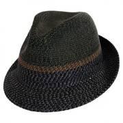 Ragon Toyo Braid Straw Trilby Fedora Hat