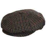 Galvin Houndstooth Wool Blend Newsboy Cap
