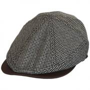 Houndstooth Leather Bill Driver Cap