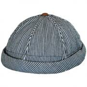 Pinstripe Cotton Skully Beanie Hat
