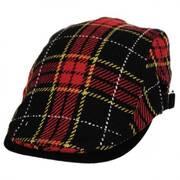 Plaid Wool Blend Adjustable Ivy Cap