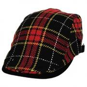 Plaid Wool Blend Adjustable Ivy Cap