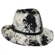 Black and White Wool Felt Safari Fedora Hat