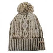 Blizzard Pass Pom Knit Beanie Hat