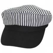 Striped Cotton Sailor's Cap - Contrast Bill