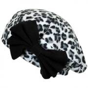 Cheetah Bow Fleece Beret