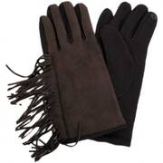 Fringe Faux Suede Texting Gloves