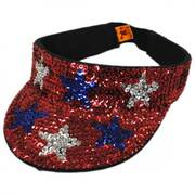 USA Stars Sequin Visor