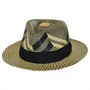 Wasser Two-Tone Panama Straw Fedora Hat