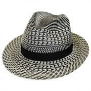 Arsun Two-Tone Straw Fedora Hat