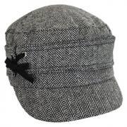 Side Tie Herringbone Cadet Cap