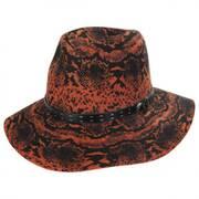 Python Wool Felt Fedora Hat