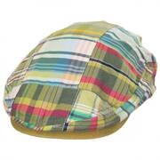 Madras Plaid Patchwork  Cotton Ivy Cap - Khaki
