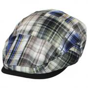 Madras Plaid Patchwork Cotton Ivy Cap - Olive
