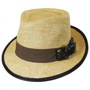 Pheasant Matte Toyo Straw Fedora Hat