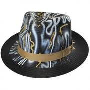 Luminosity Shantung Straw Fedora Hat
