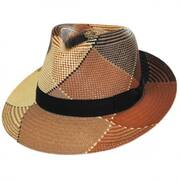 Giger Panama Straw Fedora Hat