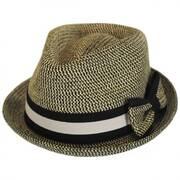Joanne Toyo Straw Trilby Fedora Hat