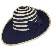 Donna Ribbon and Straw Sun Hat