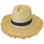 Dunewood Raffia Straw Fedora Hat
