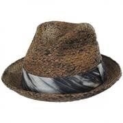Greenwich Raffia Straw Fedora Hat