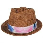 Gulf Shores Raffia Straw Fedora Hat