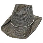 Sierra Raffia Straw Western Hat