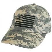 US Flag Camo Strapback Baseball Cap Dad Hat