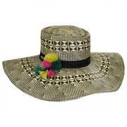 Boater Pom Pom Hat