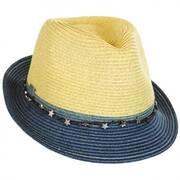 Star Band Toyo Straw Trilby Fedora Hat