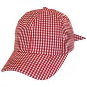 Gingham Adjustable Baseball Cap