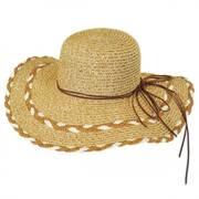Stitched Toyo Straw Floppy Hat