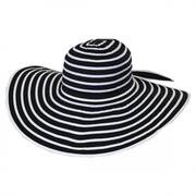 Black and White Ribbon Sun Hat