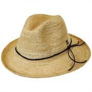 Crochet Raffia Straw Safari Fedora Hat