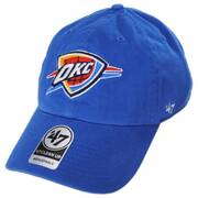 Oklahoma City Thunder NBA Clean Up Strapback Baseball Cap Dad Hat