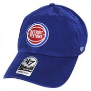 Detroit Pistons NBA Clean Up Strapback Baseball Cap Dad Hat II