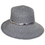 Metallic Band Toyo Straw Facesaver Hat