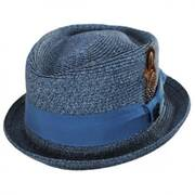 Toyo Straw Diamond Crown Fedora Hat