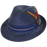 Striped Band Straw Trilby Fedora Hat