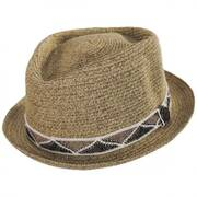 Albequerque Toyo Straw Diamond Crown Fedora Hat