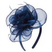 Organza Rose Fascinator Headband