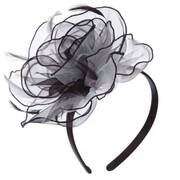Curly Rose Fascinator Headband