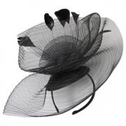 Crimped Mesh Fascinator Headband