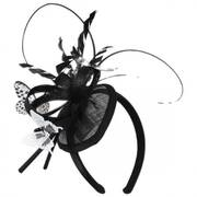 Papillon Sinamay Straw Fascinator Headband
